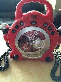 Early Learning Centre Sing Along CD Player - Red - Not Working - For parts or as a toy