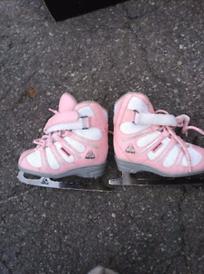 Softec hockey skates- blue and pink