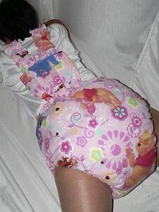 Adult Baby big stuffed Spreading diaper nice THICK padded bib pantie Spreizhose | eBay