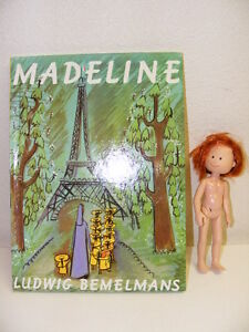 Lot-Madeline-Book-Ludwig-Bemelmans-and-Madeline-by-Eden-8-Poseable-Doll-WOW