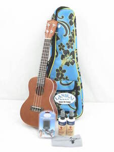 NEW-LANIKAI-LU-21C-CONCERT-SIZE-UKULELE-SUPER-BUNDLE-1-W-GIG-BAG-TUNER-MORE