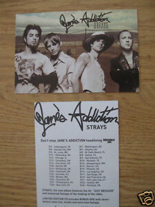 JANES-ADDICTION-PAIR-2-2003-strays-PRE-RELEASE-PROMOTIONAL-2-SIDED-POSTCARDS