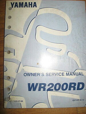 92 Yamaha Wr400rd Wr 400 Genuine Service Manual