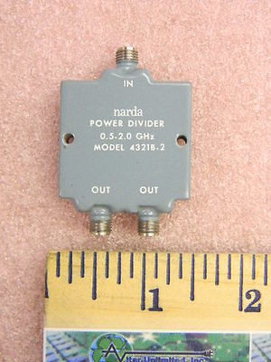 Narda 4321b-2 Rf Two-way Power Divider 0.5-2.0ghz Sma