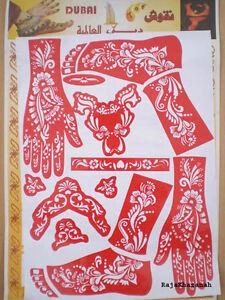 1x-HENNA-STENCIL-Mehandi-Tattoo-Body-Art-LARGE-SHEET