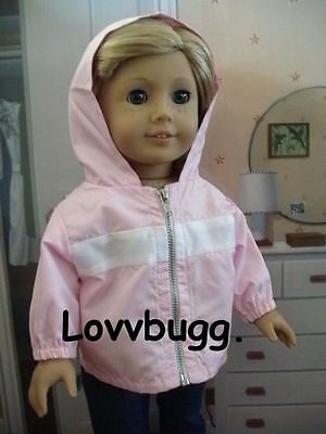 "Lovvbugg Pink Jacket Coat for 18"" American Girl or Bitty Baby Doll Clothes"