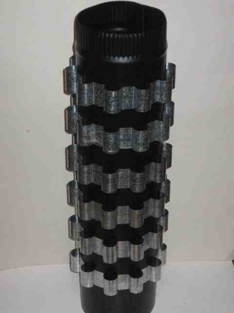 6 Heat Reclaimer Radiator Fins 6 Inch Dia Wood Stove