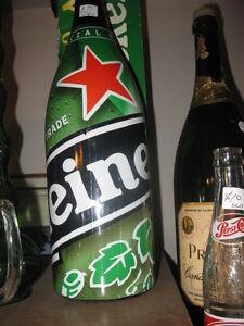 Heineken Beer BOTTLE FULL! 2 feet tall