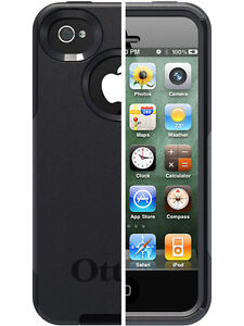 Brand New OtterBox Commuter Case - Apple iPhone 4 4S Black Shock Scratch Drop