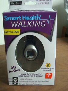 SMART HEALTH WALKING HEART RATE MONITOR, STEP COUNTER AND WATCH BRAND NEW