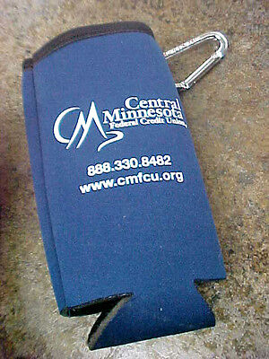 Central Minnesota Mn Federal Credit Union Banking Beer Can Bottle Cooler Neopren
