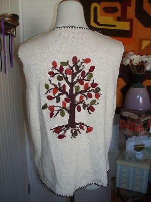 Marisa Christina Fall Leaf Tree Autumn Hand Knit L