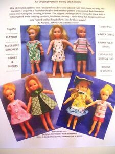 Mattel Tutti & Todd Dolls Sewing Pattern Play Date Outfits NG Creations
