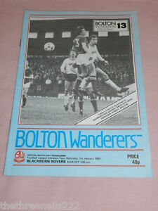 FOOTIE-PROGRAMME-D2-BOLTON-WANDERERS-V-BLACKBURN-ROVERS-JAN-1-1983