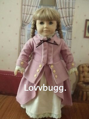 "Lovvbugg Pink Colonial Horse Riding Outfit for 18"" American Girl Elizabeth Doll Clothes"