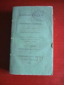 COMPENDIUM LOGICAE NEC NON DOCUMENTA RATIONIS : J. L. TABERD - France - COMPENDIUM LOGICAE NEC NON DOCUMENTA RATIONIS QUIBUS ACCEDUT BREVIS NOTITIA JURIS UTRIUSQUE J. L. TABERD OUVRAGE TRS RARE, ENTIREMENT EN LATIN ÉDITIONS : J. C. MARSHMAN ANNÉE : 1839 FORMAT : 11x16cm COUVERTURE / RELIURE : COUVERTURE SOUPLE CART - France
