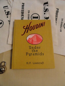 Under-the-Pyramids-Houdini-ghost-writer-H-P-Lovecraft-hardcover-book-padlocked