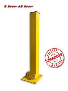 Folding down parking post driveway bollard from manufacturer (Padlock included)