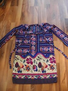 Beautiful Ancient Isles Boutique Hippie Top/Blouse/Tunic L