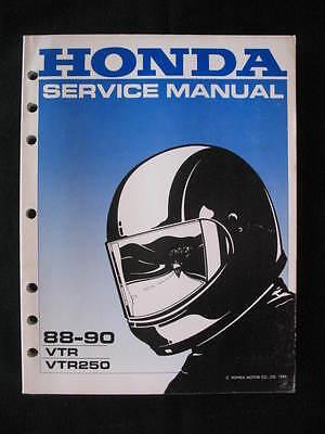 Vtr250 1988 - 1990 Honda Vtr 1988 1989 1990 Vtr250 250 Service Shop Manual
