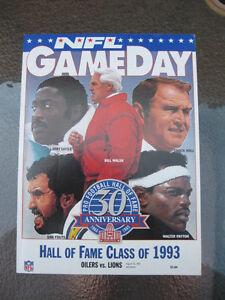 8-16-1993-Houston-Oilers-VS-Detriot-Lions-Hall-Of-Fame-Program-WALTER-PAYTON