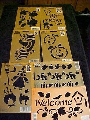 Halloween 7 Stencils Witch Trick or Treat Pumpkin 5