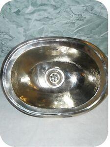 lave main marocain a encastrer maillechort metal argente lavabo pour wc design ebay. Black Bedroom Furniture Sets. Home Design Ideas