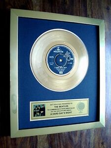 THE-BEATLES-A-HARD-DAYS-NIGHT-24KT-GOLD-RECORD-DISC-AWARD