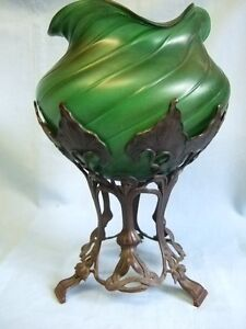 Super Art Nouveau Pallme-Konig bowl on stand.