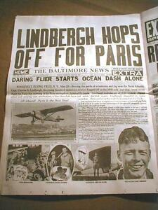 31 newspapers with HIGHLIGHTS in AVIATION Lindbergh EARHART & WRIGHT Brothers