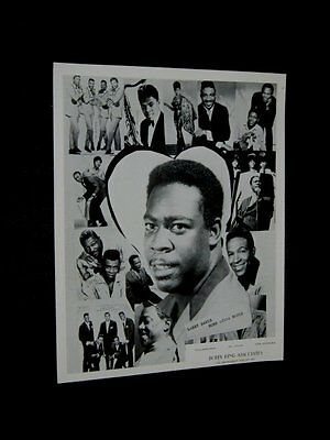 60s LARRY DAVIS Bobby King Publicity 8x10 CHITLIN CIRCUIT Writer of TEXAS FLOOD