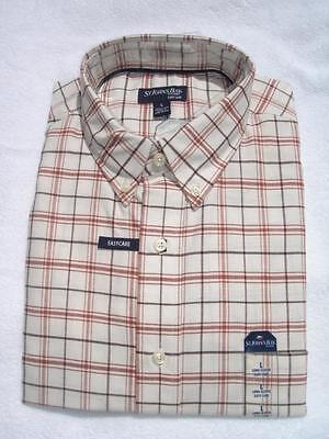 St. John's Bay Mens Dress Shirt Ivory Graph Small (s), Medium (m), Large (l)
