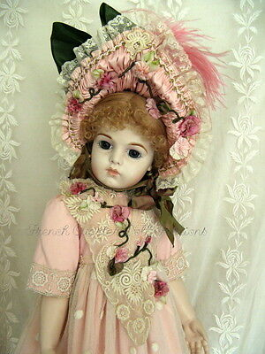 "28"" FRENCH DOLL DRESS  ANTIQUE STYLE PATTERN ~ CHASTITY"