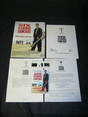 Original 1998 SIX-STRING SAMURAI 6 SLIDE Press Kit + PRESS SCREENING INVITE
