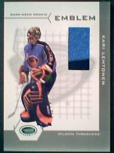 KARI-LEHTONEN-03-04-AUTHENTIC-EMBOSSED-PIECE-OF-A-GAME-USED-ROOKIE-EMBLEM-19