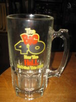 BIRTHDAY MUG THE BIG 40 OVER THE HILL LARGE DRINKING GLASS STEIN