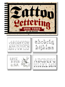 Tattoo Supplies reference book names flash Lettering Script Volume 3 Jim Watson