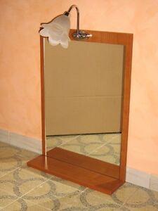 Specchio A Muro Bagno A Misura Con Mensola E Plafoniera Ebay