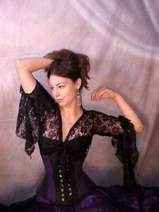 We3-Belly-Dance-Goth-Lolita-Tribal-Lace-Tie-Top