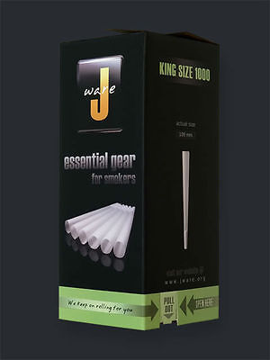 JWare Pre-Rolled KING Size Cones (1000 Count) Rolling Paper Size 109mm Large on Rummage