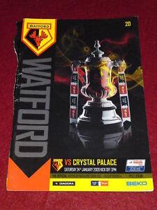 PROGRAMME-FA-Watford-v-Crystal-Palace-Jan-24-2009-no-back-cover
