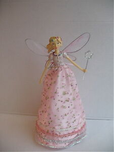 GISELA-GRAHAM-CHRISTMAS-PETITE-FLEUR-ANGEL-FAIRY-TREE-TOPPER-LARGE-28cm
