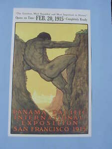 1915 San Francisco Panama Canal Pacific International Exposition Poster