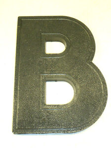 VINTAGE-WAGNER-ART-DECO-8-BLACK-MARQUEE-SIGN-LETTER-B