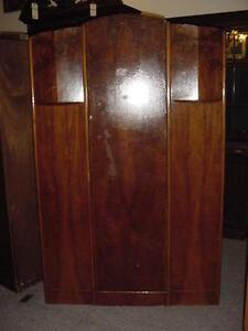 1940s-vintage-English-Tiger-Oak-Art-Deco-Armoire-Closet-Wardrobe
