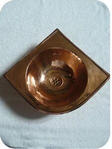 vasque d 39 angle en cuivre rouge lave main wc vasque marocaine lavabo tradition ebay. Black Bedroom Furniture Sets. Home Design Ideas