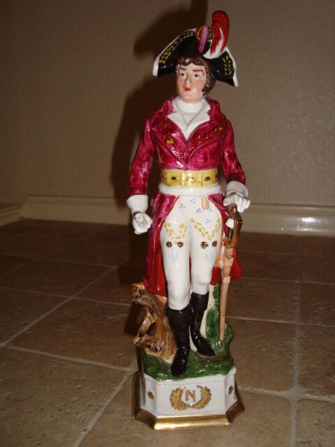 Napoleonic Porcelain Figurine Napoleon Marshal Lannes, Capodimonte, h-9.5