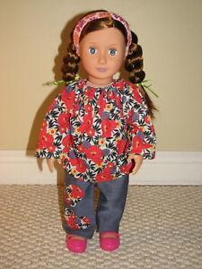 American Girl - Doll clothes - 3 piece set - Handmade