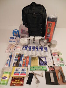 Lot of (2) 72 HOUR EMERGENCY PREPAREDNESS SURVIVAL BACKPACK KITS BUG OUT BAG