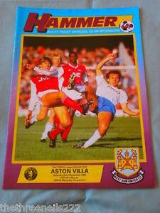 FOOTBALL-PROGRAMME-D1-WEST-HAM-UNITED-V-ASTON-VILLA-NOV-22-1986